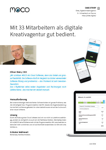 Case Study Agentursoftware und digitale Kreativagentur Dietz Connected