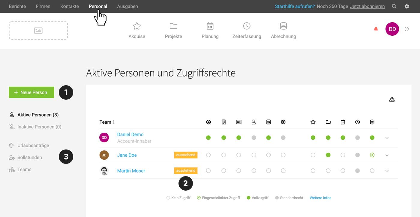 Screenshot Personal