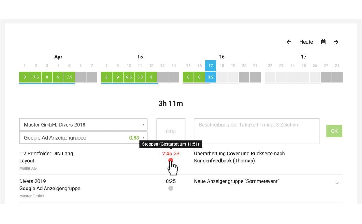 Zeiterfassung mit dem iPhone