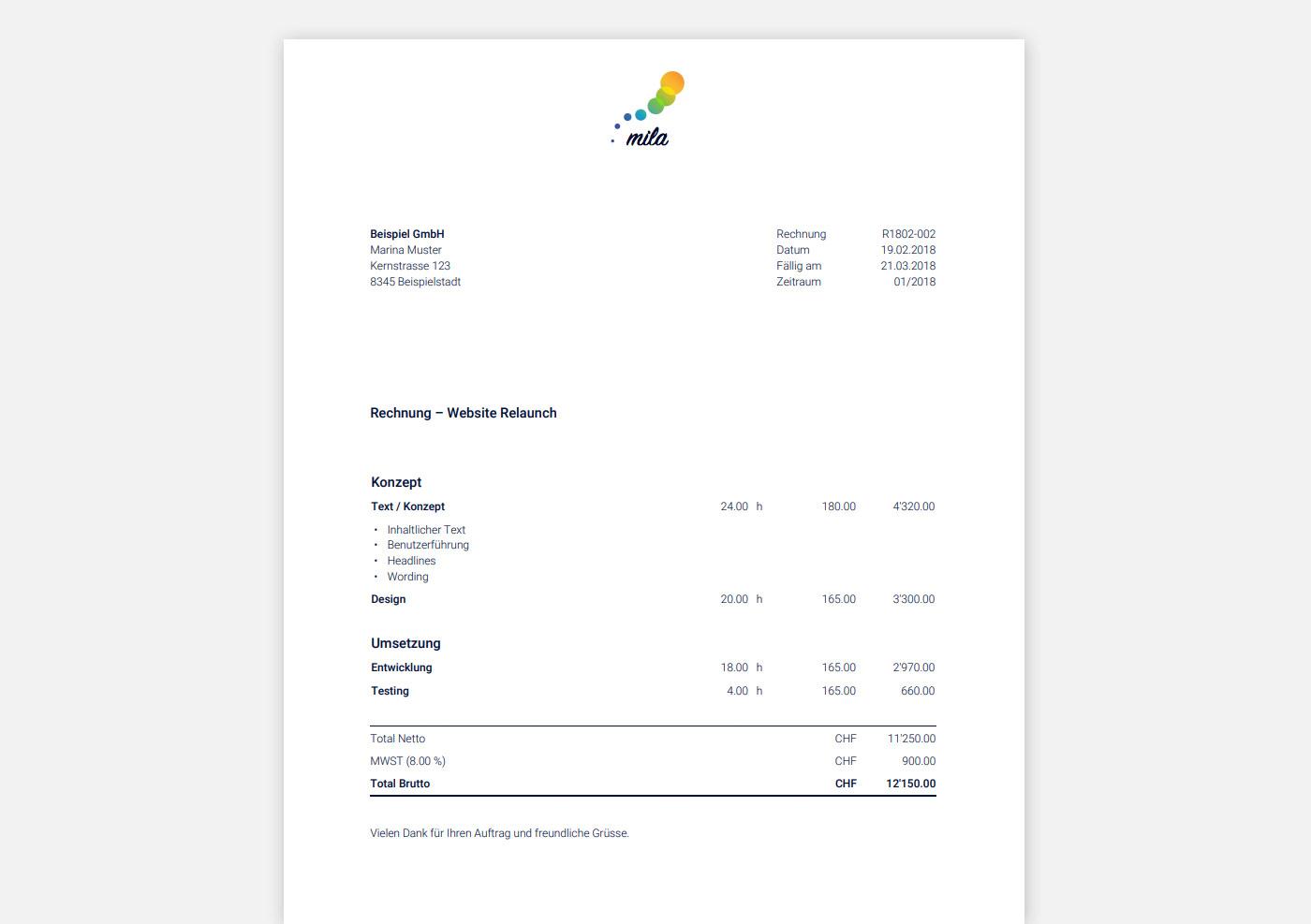 Rechnungen einfach und schnell online erstellt | | MOCO