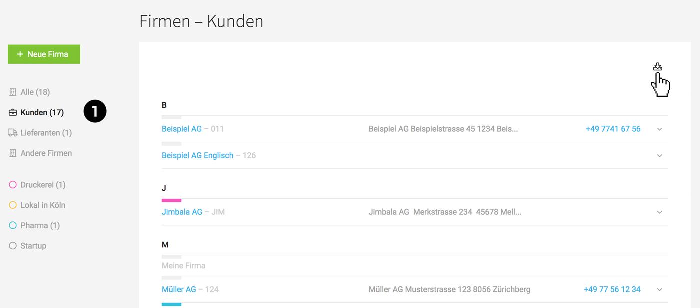 Kontakte als Excel-Datei exportieren