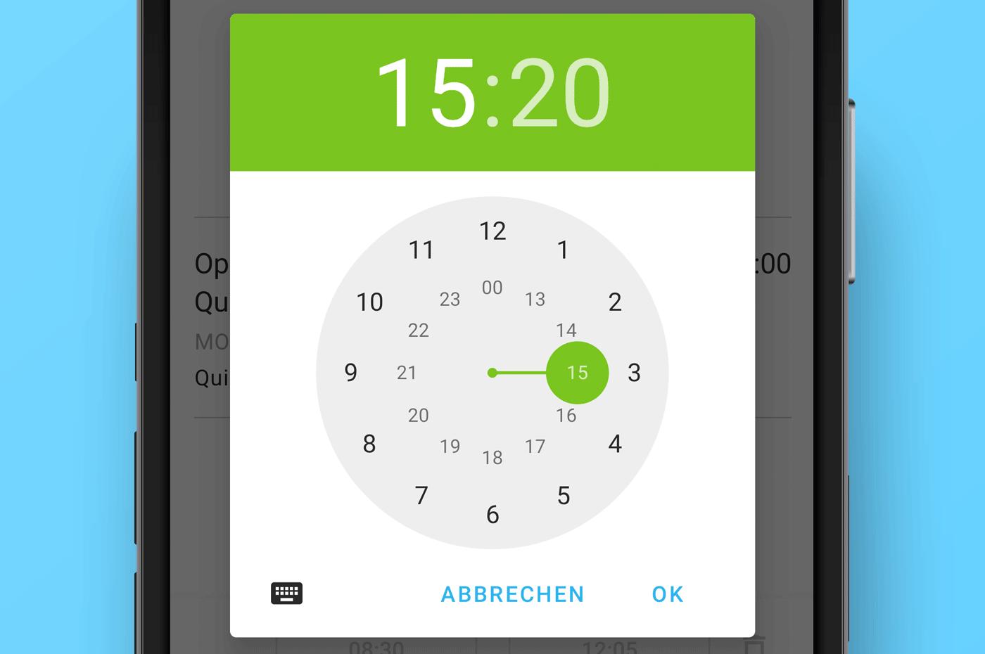 Android App Zeiterfassung MOCO