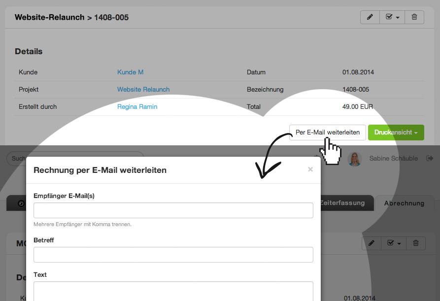 Rechnungen per E-Mail versenden