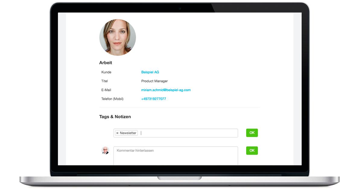 Kontakte verwalten Agentursoftware