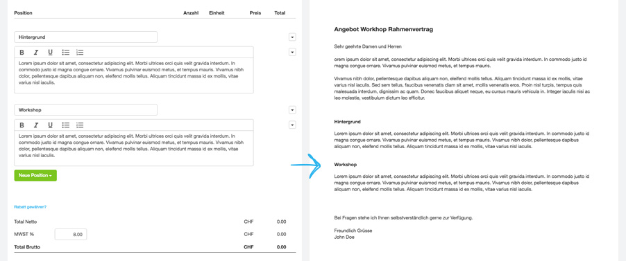 Agentursoftware Angebote schreiben