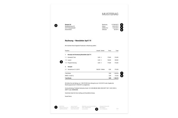 Pflichtangaben Auf Einer Rechnung Rechnungen Erstellen Moco