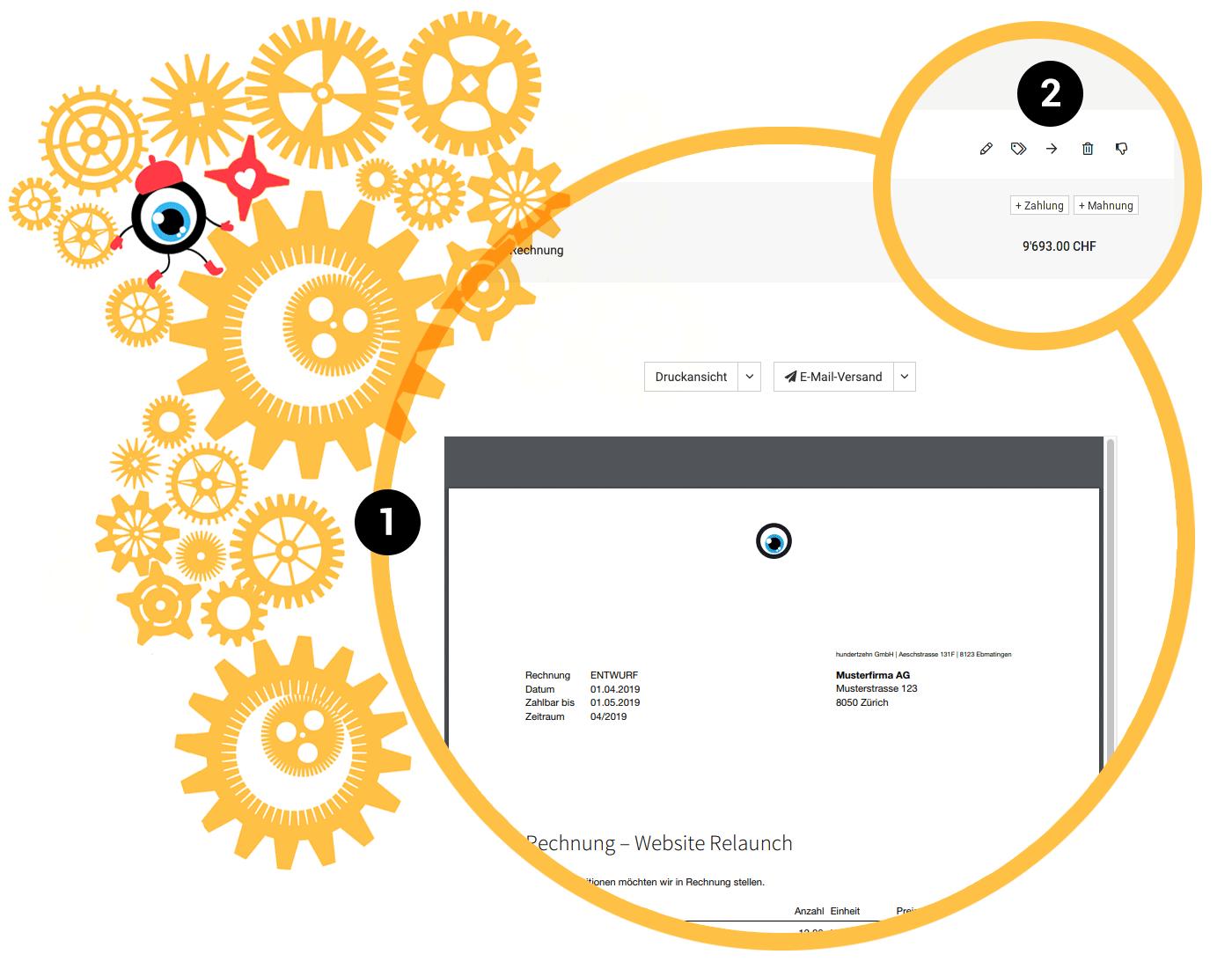 Verbindliche PDF-Vorschau nach Speichern, Angebotsnummer im Rechnungstitel, Rechnungen verschieben & mehr