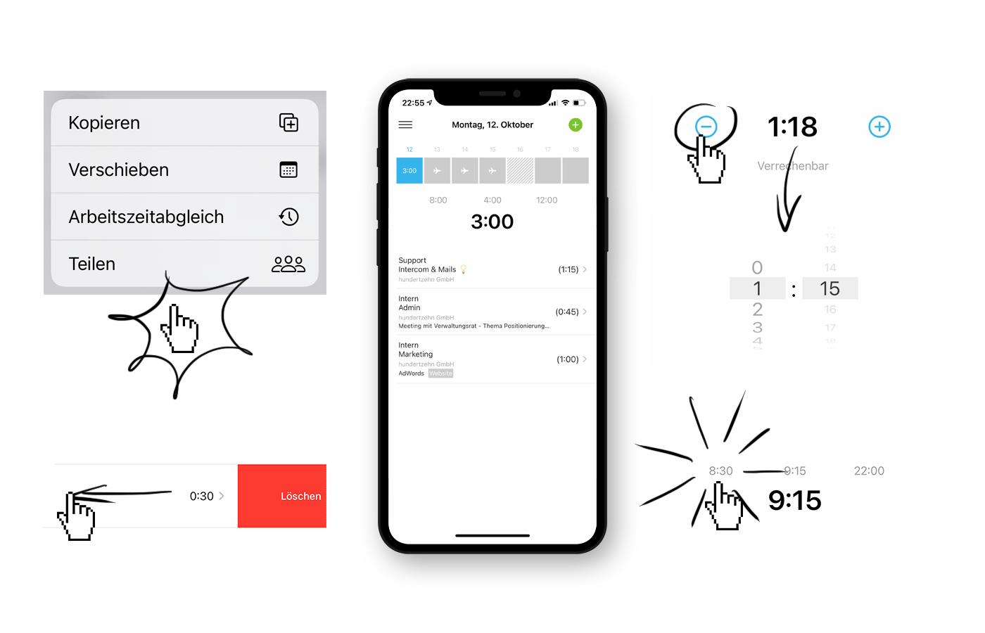 iOS App ab iOS14 für die Zeiterfassung - MOCO